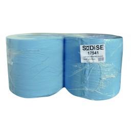 LOT 2 BOBINES OUATE BLEUE- 3 PLIS -LISSE-1000 formats-26X35 CM -SODITECH -17541
