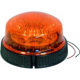 GYROPHARE 8 LED ROTATIF DIAM 128 MM SODIFLASH-A PLAT -17055