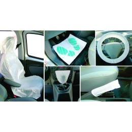 CARTON 100 KITS DE PROTECTION INTERIEURE AUTO (5 PCS)