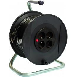 ENROULEUR ÉLÉCTRIQUE   50M 3G 1.5 mm 4 prises 230V - S01536