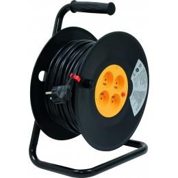 ENROULEUR ELECTRIQUE 40 Mtrs - 3x1.5 -4 PRISES +T HO5VV-F 230V SODELEC  01555