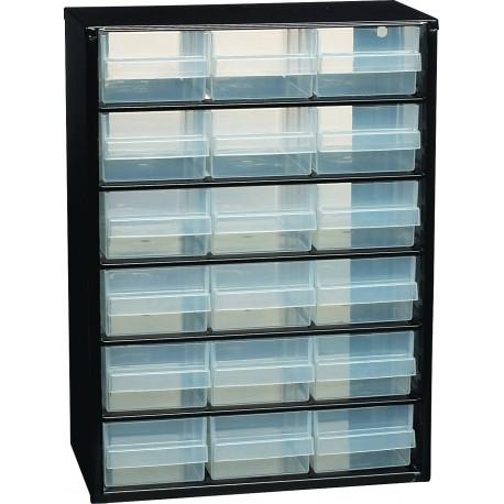 CASIERS DE RANGEMENT 18 tiroirs   420x306x147 mm RAACO - S09008