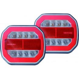 KIt de signalisation arrière magnétique LED , sans fils, 4 fonctions S16145