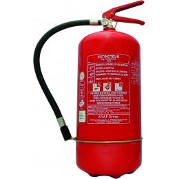 EXTINCTEUR HOMOLOGUE POUDRE 9KG AVEC MANO-ANAF FIRE PROTECTION  -S16459