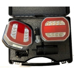 KIt de signalisation arrière magnétique LED , sans fils, 4 fonctions S16142
